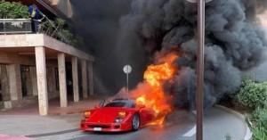 Ferrari F40 γίνεται στάχτη στο Μονακό