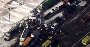 Απίστευτη καραμπόλα με 200 οχήματα στον Καναδά και δύο νεκρούς