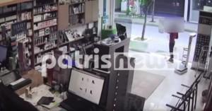 Ηλεία: 7χρονος ξαφρίζει φαρμακείο - Τον κατέγραψε η κάμερα