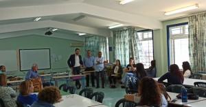Στα Δημοτικά Σχολεία ο Δήμαρχος Μαλεβιζίου