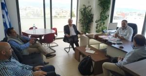 Στα γραφεία της ΠΕΔ Κρήτης ο Άρης Παπαδογιάννης