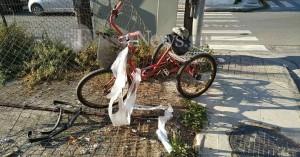 Τροχαίο στο κέντρο των Χανίων - Τραυματίστηκε σοβαρά ποδηλάτης (φωτο)