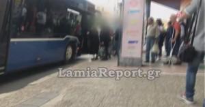 Λαμία: Απείλησαν τον οδηγό όταν τους ζήτησε να πληρώσουν εισιτήριο και να βάλουν μάσκα