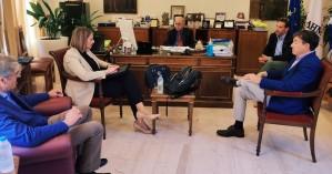 Συνάντηση Δημάρχου Ηρακλείου Βασίλη Λαμπρινού με αντιπροσωπεία της AEGEAN
