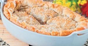 Μανιταρόπιτα με καρύδια