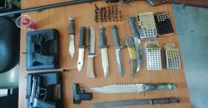 Μικρό οπλοστάσιο βρέθηκε στο σπίτι Χανιώτη (φωτο)