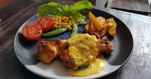 Χοιρινές μπριζόλες με μουστάρδα