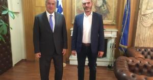 Συνάντηση Αντιπεριφερειάρχη Πρωτογενή τομέα με Υπουργό ΥπΑΑΤ και Γενικούς Γραμματείς