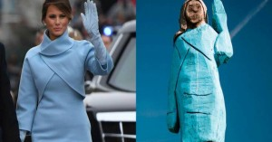 Άγνωστοι πυρπόλησαν τo ξυλόγλυπτο άγαλμα της Μελάνια Τραμπ στην Σλοβενία