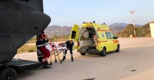 Αερομεταφορά ασθενούς στα Χανιά από τα Αντικύθηρα