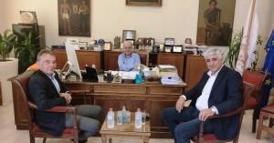 Συνάντηση Δημάρχου Ηρακλείου Βασίλη Λαμπρινού με τον Γενικό Γραμματέα της ΚΕΔΕ