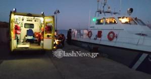 Διέσωσαν ναυτικό μέσα από τη θάλασσα ανοιχτά της Κισάμου (φωτο)