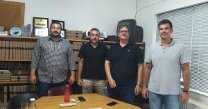 Επίσκεψη Μαρκογιαννάκη στον Πρόεδρο του Λιμενικού Ταμείου Χανίων