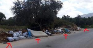 Αυτοσχέδια χωματερή λίγα μέτρα από το νοσοκομείο Χανίων (φωτο)