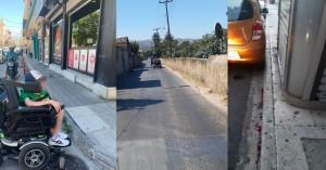 Αυτή είναι η «φιλική» προς τον πεζό και το άτομο με αναπηρία πόλη των Χανίων; (φωτο)