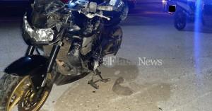 Τροχαίο με τραυματισμό μοτοσικλετιστή στα Χανιά (φωτο)