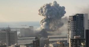 Η στιγμή της έκρηξης στην Βηρυτό σε slow motion