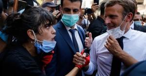 Το βίντεο με την εξοργισμένη Λιβανέζα και την υπόσχεση του Γάλλου Προέδρου