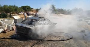Λαμπάδιασε αυτοκίνητο στα Χανιά (φωτο)