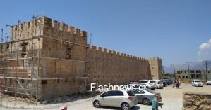 Εργασίες αναστήλωσης στο εμβληματικό φρούριο Φραγκοκάστελλου - Πότε ολοκληρώνονται (φωτο)