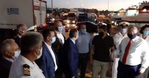 Την εφαρμογή των μέτρων στο λιμάνι του Ηρακλείου διαπίστωσε από κοντά ο υπουργός Ναυτιλίας