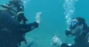 Υποβρύχια πρόταση γάμου στην Αλόννησο (φωτο)