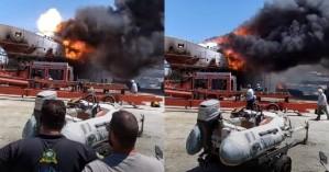 Θαλαμηγός έπιασε φωτιά και εξερράγη! (βίντεο)