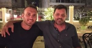 Διακοπές στα Χανιά για τον διεθνή ποδοσφαιριστή Βασίλη Τοροσίδη (φωτο)