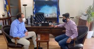 Εθιμοτυπική επίσκεψη του Δημάρχου Ανωγείων στον Δήμαρχο Χανίων