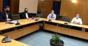 Συνάντηση Δημάρχου Μ. Φραγκάκη με τον Υπουργό Υποδομών και Μεταφορών Κ.  Καραμανλή