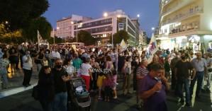 Συλλαλητήριο κατά της επίσκεψης Πομπέο στα Χανιά (φωτο)