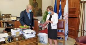 Συνάντηση Δημάρχου Ηρακλείου με την Πρέσβειρα του Βελγίου