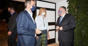 Μάικ Πομπέο: Φιλοξενούμενος στο σπίτι του πρωθυπουργού στα Χανιά (φωτο+βιντεο)