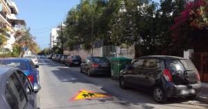 Σε εξέλιξη εργασίες διαγραμμίσεων οδών μπροστά από τις σχολικές μονάδες απ'τον δήμο Χανίων