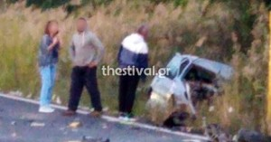 Ένας νεκρός σε τροχαίο μεταξύ ΙΧ και νταλίκας στη Θεσσαλονίκη (φωτο)