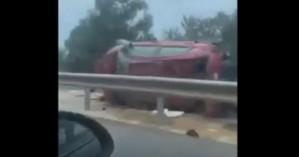 Τρελή πορεία αυτοκινήτου στην εθνική οδό Χανίων - Ρεθύμνου (βίντεο)