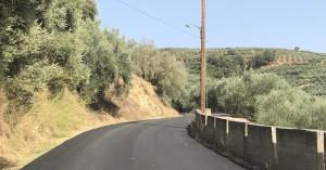 """Κατασκευή νέου ασφαλτοτάπητα στον Επαρχιακό δρόμο """"Σκαφιώτο - Γλώσσα"""" στο Κολυμπάρι"""