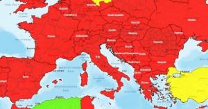 Κορωνοιός: Στο «κόκκινο» η Ευρώπη για τους Αμερικανούς  –