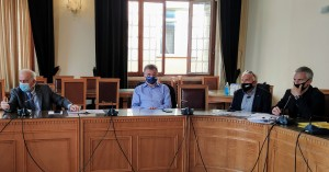 Σύσκεψη στη Λότζια για την αντιπλημμυρική θωράκιση του Ηρακλείου