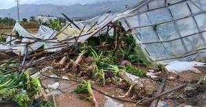 Βομβαρδισμένο από το χαλάζι τοπίο τα Μάλια - ολική καταστροφή σε θερμοκήπια! (φωτο)
