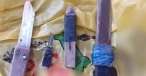 Μαχαίρια, φαλτσέτες, κινητά τηλέφωνα και μεγάλη ποσότητα αλκοόλ στις φυλακές Χανίων (φωτο)