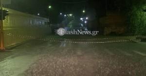 Οδηγοί εγκλωβίστηκαν στα αυτοκίνητα τους σε δρόμο των Χανίων (φωτο)