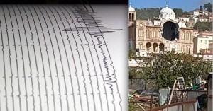 Σεισμός στη Σάμο: Έπεσε εκκλησία στο Καρλόβασι! (βιντεο)