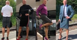 Γερμανία:Στρέιτ πατέρας 3 παιδιών πάει κάθε μέρα στη δουλειά με... φούστα και γόβες (φωτο)