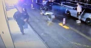 Η τρελή πορεία κλεμμένου αυτοκινήτου στο λιμάνι του Αγίου Νικολάου (βίντεο)