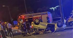 Τροχαίο με ένα νεκρό στη λεωφόρο Αμαλίας – Ανετράπη το αυτοκίνητο