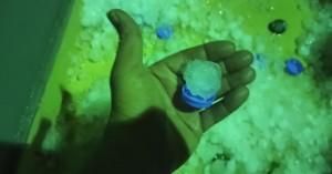 Ηράκλειο: Χαλάζι σαν... καπάκι μπουκαλιού! (φώτο)