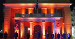 Στο πορτοκαλί χρώμα φωταγωγήθηκε η Περιφέρεια Κρήτης