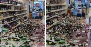 Γυναίκα μπήκε σε σούπερ μάρκετ και έκανε λαμπόγυαλο 500 μπουκάλια