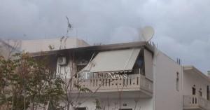 Πυρκαγιά σε οικία στα Χανιά σε πυκνοκατοικημένη συνοικία (φωτο)